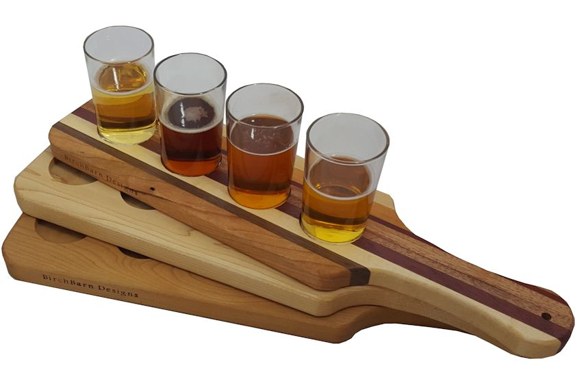 Beer Flight Serving Paddle Birchbarn Designs