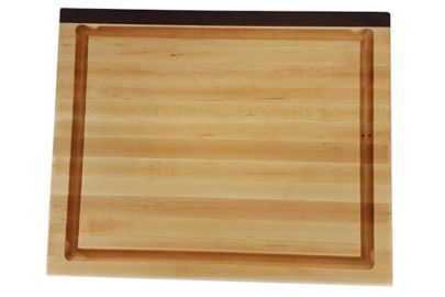 maple and walnut edge grain wood cutting board