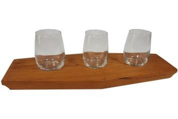 wooden wine flight