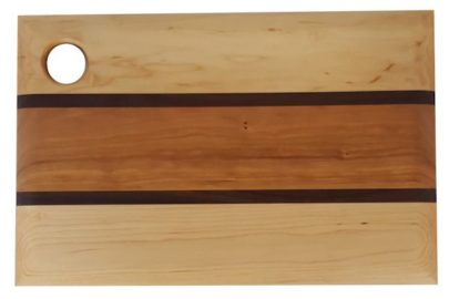 maple, cherry and walnut serving board, named after Acadia National Park