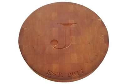 Circle cherry end grain cutting board