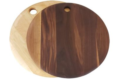 wooden circle serving board