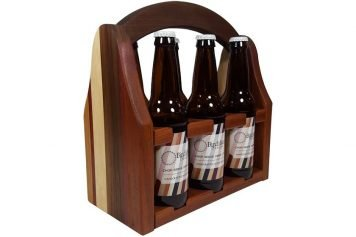 Limited edition wooden beer caddy
