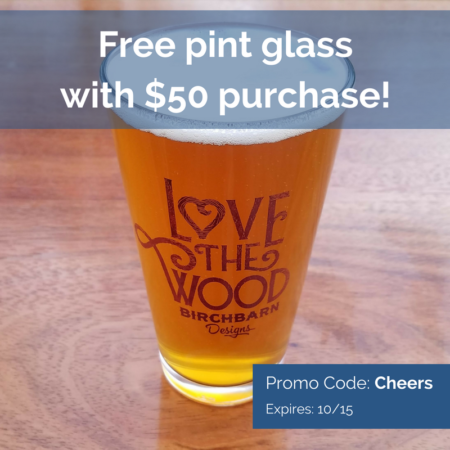 Free Pint Glass with Purchase