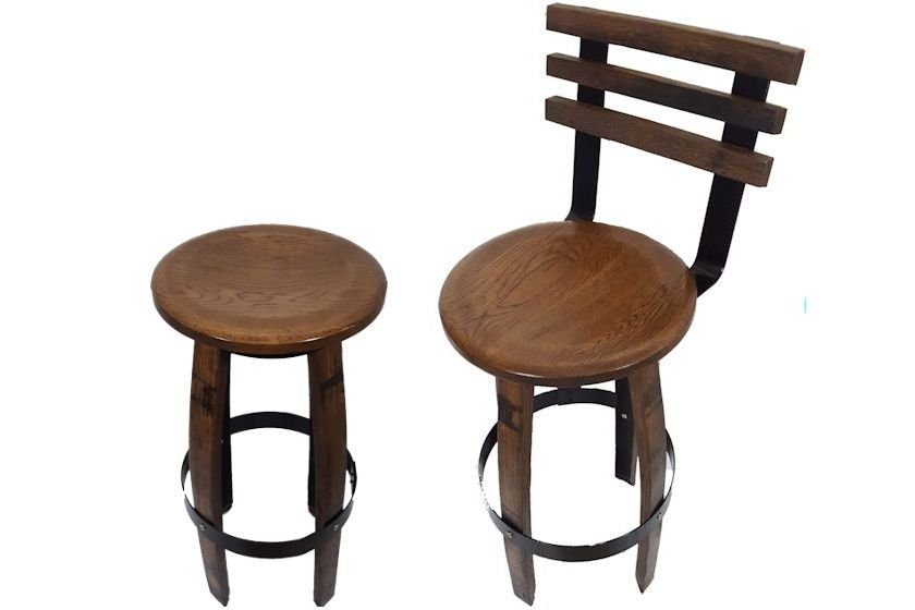 Whiskey Barrel Bar Stool Custom Made Birchbarn Designs