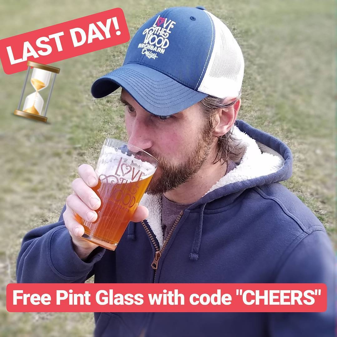 Time is ticking to grab your FREE pint glass withhellip